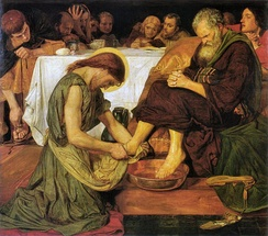 Jesus Washing Peter's Feet, by Ford Madox Brown (1852–1856)