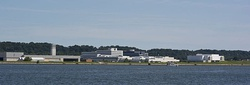 View of Joint Base Anacostia–Bolling from across the Potomac River during 2013.