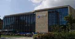 The King's Gate building hosts student and administrative services and was built in 2009.