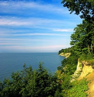 Sandy bluffs along Lake Erie in Erie County, Pennsylvania