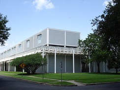Southeast corner of the Menil Collection, Houston