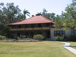 The Barnacle Historic State Park, built in 1891 in Miami's Coconut Grove neighborhood.