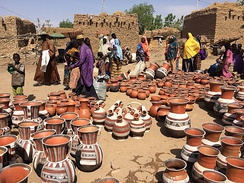 The pottery market in Boubon, Niger.