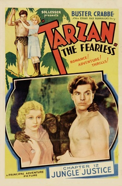 Tarzan, as depicted by Buster Crabbe in the film serial Tarzan the Fearless