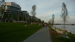 New Danube waterfront