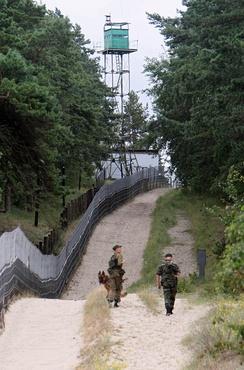 Российские пограничники в наряде