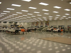 Yates Racing garage in Mooresville, North Carolina.