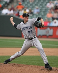 Roy Halladay with the Toronto Blue Jays