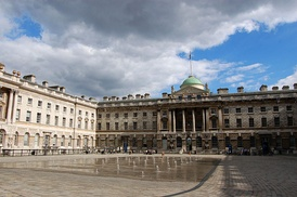 The central courtyard of Sir William Chambers' Somerset House in London.