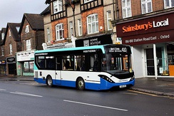 Southdown PSV route 410 in Oxted Town Centre