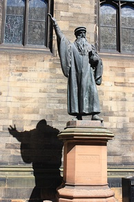 Statue of John Knox in New College Edinburgh by John Hutchison