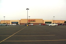 The exterior of a former Target Greatland store in Laredo, Texas