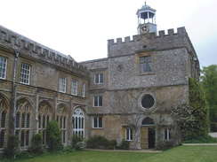 The chapter house of Forde Abbey, a Cistercian monastery closed in 1539 and converted into a country house