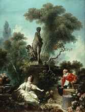 Jean-Honoré Fragonard The Meeting (Part of the Progress of Love series), 1771