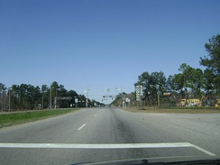 Intersection of US 41/US 221/SR 7/SR 31 with US 84/SR 38 on the east side of Valdosta.