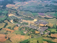 The Autodromo di Vallelunga. The circuit length (including the post-2004 extension) is 4 km (2.538 mi). Races are run clockwise.