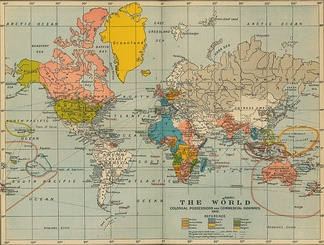 Western empires as they were in 1910