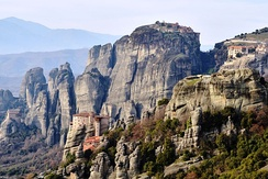 Byzantine era monasteries in Meteora, Thessaly