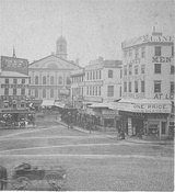 View of Faneuil Hall from Dock Square, 19th century
