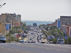 Aktau is Kazakhstan's only seaport on the Caspian Sea