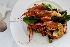 Scampi are popular along the coasts.