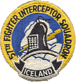 57th Fighter Interceptor Squadron (The Black Knights) Patch