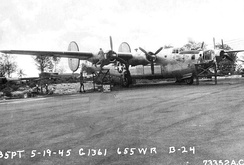 "Squadron B-24L, ""Weather Witch"", at Depot Field, Guam[note 1]"