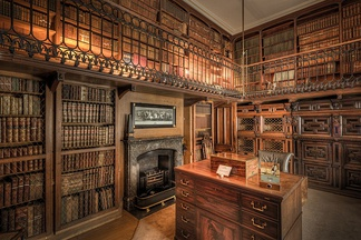The study at Abbotsford, created for Sir Walter Scott whose novels popularised the Medieval period from which the Gothic Revival drew its inspiration