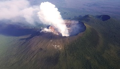 Mount Nyiragongo, which last erupted in 2002.
