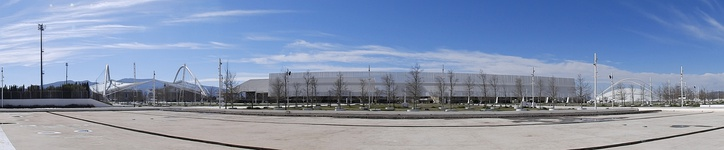 Panorama of Athens Olympic Sports Complex.