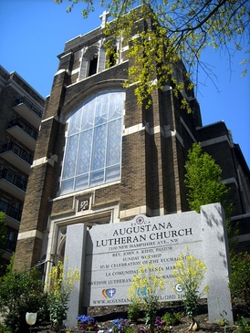 The Augustana Lutheran Church in Washington, D.C. belongs to the Evangelical Lutheran Church in America (ELCA)
