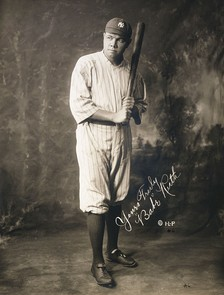 Babe Ruth holds the MLB career slugging percentage record (.690).[1]