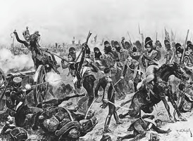 At the Battle of Salamanca, Sir Edward Pakenham's 3rd Division charges Thomieres