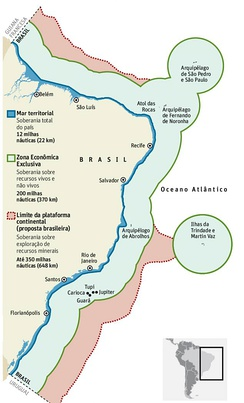 "Brazilian exclusive economic zone, the ""Blue Amazon"""