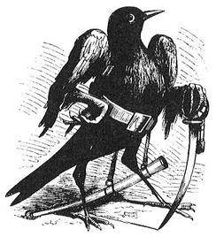 Camio in bird form as depicted in Collin de Plancy's Dictionnaire Infernal, 1863 edition.