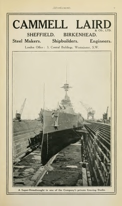 1915 advertisement for Cammell Laird