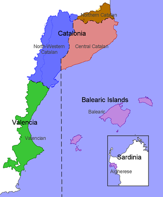 The main dialects of Catalan[1][2][3]
