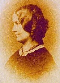 Disputed photograph taken about 1855; sources are in disagreement over whether this image is of Charlotte Brontë or of her friend, Ellen Nussey.[22][23]