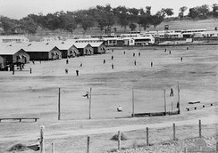 Japanese POW camp in Cowra, 1944, several weeks before the Cowra breakout