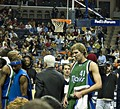 Dirk Nowitzki (in green), Dallas Mavericks power forward, 2011 NBA Champion and Finals MVP