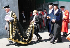 The Chancellor of the University of Oxford, Lord Patten, in procession at Encaenia, 2009
