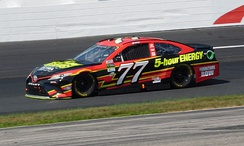 Erik Jones driving the FRR No. 77 car at New Hampshire Motor Speedway in 2017.