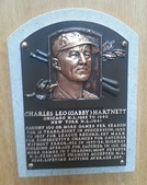 Hartnett's plaque at the Baseball Hall of Fame
