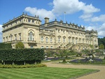 Double Terrace to South Front of Harewood House including retaining Walls and Steps, Flower Bed Surrounds, Fountains, Garden Ornaments and Sculptures
