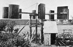 James Blyth's electricity-generating wind turbine, photographed in 1891