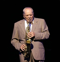 John Dankworth on stage in 2002