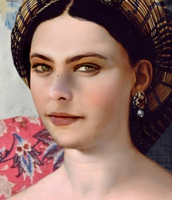"For this project the AI had to find the typical patterns in the colors and brushstrokes of Renaissance painter Raphael. The portrait  shows the face of the actress Ornella Muti, ""painted"" by AI in the style of Raphael."