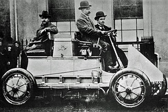 The Lohner-Porsche Mixte Hybrid was the first gasoline-electric hybrid automobile.