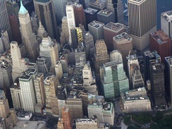 Wall Street as seen from the air in 2009