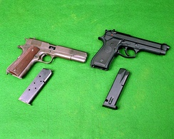The M1911A1 and M9 pistol.